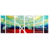 <strong>Pure Art</strong> Tree Sculptures Forest of Elements 6 Piece Original Painting Plaque Set