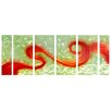 <strong>Pure Art</strong> Abstract Sculptures Ribbon of Fire 6 Piece Original Painting Plaque Set