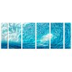 <strong>Pure Art</strong> Ocean of Fury 6 Piece Original Painting Plaque Set
