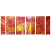 <strong>Pure Art</strong> Tree Sculptures Tree of Life 6 Piece Original Painting Plaque Set
