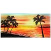 <strong>Pure Art</strong> Tree Sculptures Tropical Sunset Original Painting Plaque