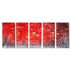 <strong>Pure Art</strong> Abstract Sculptures Night Flight 5 Piece Original Painting Plaque Set