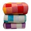 LCM Home Fashions Luxury Printed Check Micro Plush Blanket