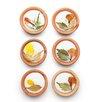 Mela Artisans Poetic Petals 6 Piece Tea Light Set