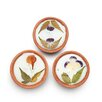 Mela Artisans Poetic Petals 3 Piece Tea Light Set