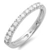 <strong>Dazzling Rock</strong> 14K White Gold Round Cut Diamond Anniversary Wedding Band