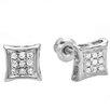 <strong>Dazzling Rock</strong> Men's Hip Hop Round Cut Diamond Stud Earrings