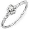 <strong>Dazzling Rock</strong> 14K White Gold Round Cut Diamond Halo Ring
