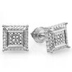 <strong>Dazzling Rock</strong> Men's Round Cut Diamond Stud Earrings