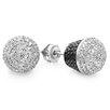 Dazzling Rock Round Cut Diamond Stud Earrings