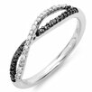 <strong>Dazzling Rock</strong> Sterling Silver Round Cut Diamond Infinity Swirl Anniversary Wedding Band
