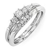 <strong>Dazzling Rock</strong> 10K White Gold Brilliant Round Cut Diamond Bridal Set