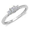 Dazzling Rock 14K White Gold Princess Cut Diamond Ring
