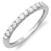 <strong>Dazzling Rock</strong> 14K White Gold Dainty Round Cut Diamond Anniversary Wedding Band