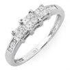 <strong>Dazzling Rock</strong> 14K White Gold Princess Cut Diamond Ring