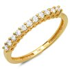<strong>14K Yellow Gold Round Cut Diamond Anniversary Wedding Band</strong> by Dazzling Rock