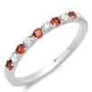 <strong>Dazzling Rock</strong> 14K White Gold Round Cut Gemstone Anniversary Wedding Band