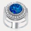 <strong>Drukker Designs</strong> Luxury Sterling Silver Gemstone Ring