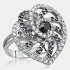 Drukker Designs Day and Night Sterling Silver Cubic Zirconia Ring