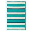 Panama Jack Home Republic Light Blue/Ivory Striped Indoor/Outdoor Area Rug