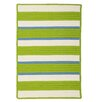 Panama Jack Home Republic Green/Ivory Striped Indoor/Outdoor Area Rug