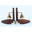 Handcrafted Model Ships Bell Book Ends (Set of 2)