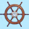 Handcrafted Model Ships Deluxe Class Oversized Ship Wheel Wall Clock