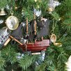 Handcrafted Nautical Decor Queen Anne's Revenge Christmas Tree Ornament