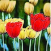"<strong>En Vogue</strong> 8"" x 8"" Tulips Art Tile in Multi"