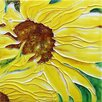"8"" x 8"" Sunflower Art Tile in Yellow"