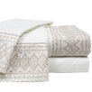 <strong>Colonial Textiles</strong> Lace Embroidery Microfiber Sheet Set