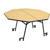 Palmer Hamilton Mobile Folding Cafeteria  Adjustable Height Octagon Table