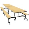 Palmer Hamilton Mobile Folding Cafeteria Bench Table Wheelchair Accessible