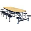 <strong>Mobile Folding Cafeteria Elongated 12 Stool Table</strong> by Palmer Hamilton