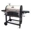 Dual Chamber Charcoal Grill with Adjustable Charcoal Trays and Easy Access Charcoal Door