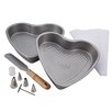 <strong>Cake Boss</strong> 10 Piece Santa and Heart Bakeware Set