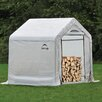 ShelterLogic 3.5ft. W x 5ft. D Polyethylene Firewood Storage Shed