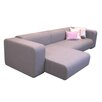 "B&T Design Frank Triple Cat C 116"" Chaise Lounge Sofa"