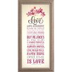 The James Lawrence Company Love Is Patient Framed Graphic Art