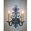 <strong>Laura Lee Designs</strong> Fleur De Lis Double Wall Sconce
