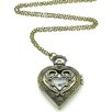 Jordan and Taylor Heart Pocket Watch Pendant Necklace