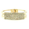 <strong>Jordan and Taylor</strong> Crystal Cuff Bracelet
