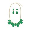 <strong>Jordan and Taylor</strong> Emerald Bib Necklace and Earrings Set
