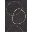 Kalora Ashbury Linked Dark Grey Circles Area Rug