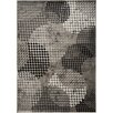 Kalora Platinum Industrial Grey & Cream Crate Area Rug