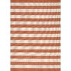 Kalora Alpha Orange Nautical Stripes Area Rug