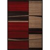 <strong>Casa Red Squares and Waves Rug</strong> by Kalora