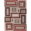<strong>Mansoori Textured Red Squares Rug</strong> by Kalora