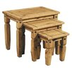 <strong>Hometime</strong> Aztec Mexican Pine 3 Piece Nesting Tables