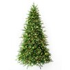 Hometime Snowtime 6.3' Green Pre-Lit Alaskan Spruce Artificial Christmas Tree with 350 Clear Lights